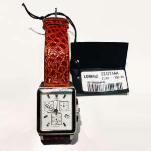 orologio-lorenz-cronografo-acciaio-cinturino-pelle-coocodrillo-gioielleria-berluti